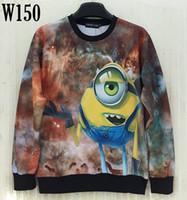 animated space cartoons - w20151222 Mikeal Men women d sweatshirts printed Animate alien casual Space Galaxy hoodies Cartoon hoody men top W150