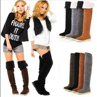 Wholesale HOT SALE Women s Winter Warm Over Knee Snow Boots Two Way Shoes Jack boots SHOES