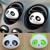 Wholesale 2015 Panda Car Perfume Outlet Panda Eyes Will Jump Air Conditioning Vent With Scented Tea CAR