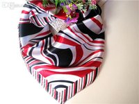 Wholesale New Arrival Striped Satin Silk Small Polyester Square Scarf x cm Handbag Decor Women Men Dress Collar Cravat