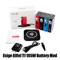 battery charge control - 100 Original Esige Eiffel T1 W Battery TC Box Mod Wireless Charging Temp control mah Battery for thread Tanks