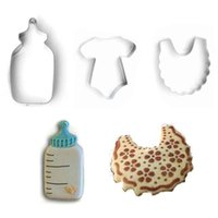 baby shower pastries - DIY Baby Shower Bottle Bib Biscuit Cookie Chocolate Cutter Mold Fondant Feeding Chrismas Bottle Cake Pastry Kitchen Set Tool