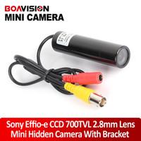al por mayor cámara de color dvr-Cámara HD mini bala impermeable al aire libre 700TVL Sony Effio-e CCD color oculto Gran Angular los 2.8MM de seguridad CCTV para DVR 960H