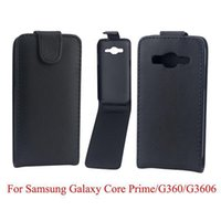Wholesale Flip PU Leather Pouch Purse Hard For Samsung Galaxy Pocket G110H Core Prime G360 G3606 Synthetic plain case skin vertical cover slot