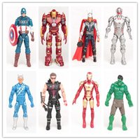 Wholesale New Set The Avengers Hulk thor Captain America Wolverine lronman Action Figures Toy BY0000