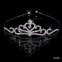 tiara - 2015 Cheap Crowns Popular Beautiful Hair Accessories Comb Crystals Rhinestone Bridal Wedding Tiara inch inch