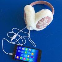 Wholesale Fox fur Plush knitting earmuffs winter ear warmer headphones music fashion love snow deer earmuffs g
