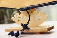 Wholesale 4 cm wooden hand fan stand cradle for cm gift hand fan display