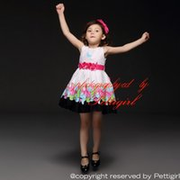 kids belts - Pettigirl Summer Style Girls Dress Flower Belt Brand Colorful Butterfly Printed Princess Dresses Pretty Kids Clothes Retail GD21008 B
