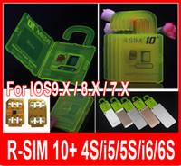 Wholesale Original R SIM RSIM Rsim10 r sim plus iphone unlock card for Iphone s s IOS9 IOS9 IOS7 X3G G CDMA FOR sprint AU SB