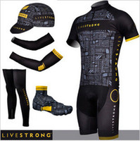 livestrong - livestrong cycling jersey bibs shorts set with warmers and cycling caps summer cycling jersey shorts