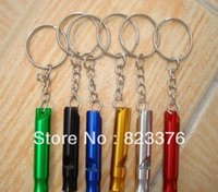 Wholesale DHL Mini outdoor Survival Key Chain Camping hiking Emergency Whistle