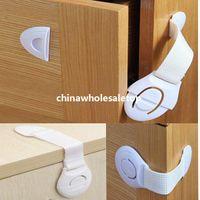 Wholesale 9pcs Cabinet Door Cupboard Drawers Fridge Baby Kids Safety Lock Band Plastic Lock Latche Multifunction Toddler Lock