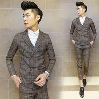 Wholesale Handsome Mens Classic Design Suits Luxury Mens Fashion Suits Mens Business Suits Big Discount N4