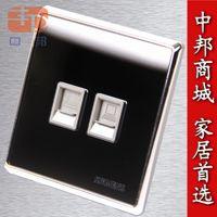 Wholesale Genuine Apple switch socket panel luxury crystal mirror Phone network computer socket