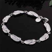best slipper brand - Hot sale best gift silver Full slippers Bracelet DFMCH155 brand new fashion sterling silver Chain link bracelets