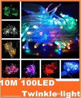 Wholesale Epacket Christmas crazy selling M LED string Decoration Light V V For Party Wedding led christmas twinkle lighting