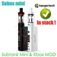 Black vapor mod - Authentic Kanger Subox mini starter kit Sub tank mini ml atomizer RDA KBOX W Variable Wattage Box Mods E cigs kangertech vapor Kits