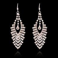 Wholesale 2015 Fashion CZ Diamond Multilayer Tassel Hoop Earring For women Gift