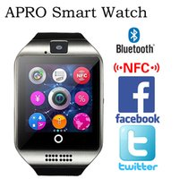 Cheap New 2016 APRO Q18 Smart Watch Phone 1.54inch 1.2MP Camera SIM Card TF Card Bluetooth Smartphone for iPhone Samsung Huawei 010213