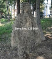 Wholesale 5pcs set sniper GHILLIE suit desert camouflage type camo chillie yowie sniper tactical camouflage suit hunting