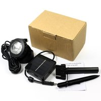 Wholesale Outdoor Solar Powered LED Spotlight Garden Pool Waterproof Spot Light Lamp new arrival hotselling hig quality CN post