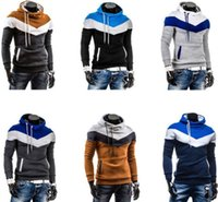 Cheap NEW Fashion Men's Slim Fit Sexy Top Designed Hoodies Jackets Coats Sweatshirt