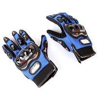 Wholesale Motorcycle Bicycle Bike Full Finger Gloves Motor Racing Nylon Finger Gloves Sports Wear Racing Equipment Red Blue Black