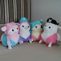 alpacasso pirate - 6 quot cm Lovely Llama Alpaca Arpakasso Alpacasso Pirate Soft Plush Stuffed Doll Toy Baby Kids Gift WJ292