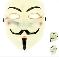 Wholesale 1Pc Hot V for Vendetta Mask Anonymous Movies Fawkes Fancy Dress Halloween Masks Costume Cosplay Party Masks