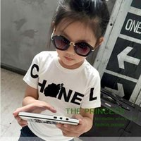 100 cotton white t shirt - Fashion Short Sleeve T Shirt Girls Tops Child Clothes Kids Clothing Spring Summer T Shirt Girl Dress Children T Shirts Tee Shirt C6204