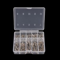 fishing jig head hooks - 100Pcs Box Sizes Steel Fishhooks Carp Fishing Jig Head Set Pesca Anzol Fishing Tackle Fishing Hook with Hole