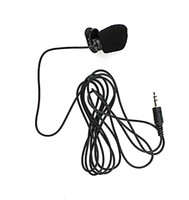 Wholesale DHL cm Cable Mini Clip on mm Jack Microphone Hands Free for PC and Comference