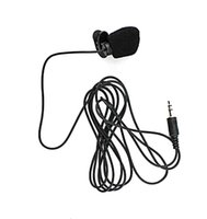 Wholesale Cable Hands Free - DHL 180cm Cable Mini Clip-on 3.5mm Jack Microphone Hands Free for PC and Comference Wholesale