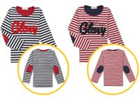Wholesale New Arrival Children s Winter Autumn Thicken Red Blue White Stripe T Shirts Large Boy s Cotton O Neck T Shirts Kid s Long Sleeve Coats