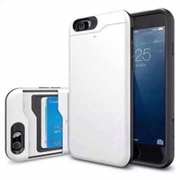 Wholesale SFP Hard Case Colorful TPU PC IN1 Case For iPhone6 G i6 PLUS insert a card in the slot