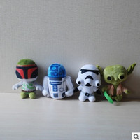 Wholesale Star Wars Plush Toy Cute Cartoon Dolls Dark Warrior Clone Trooper Yoda Darth Vader Stuffed Animals Soft Doll cm F127