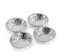 Cutter aluminum foil bakeware - Home DIY Kitchen Bakeware Disposable Silver Aluminum Foil Baking Cup Cookie Muffin Cupcake Tart Mold Round