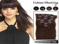 clip in human hair extensions 160g - Medium reddish brown inch g set clip in hair extensions brazilian remy human hair