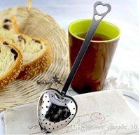 herbal tea gifts - 200 BBA4651 Heart Shaped tea infuser Mesh Ball Stainless Strainer Herbal Locking Tea Infuser Spoon Filter Heart Shaped spoon christmas gift