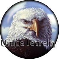 al por mayor pulsera del encanto del águila-AD1303322 12mm 20mm Snap en los encantos de la pulsera caliente del collar de la venta DIY de águila símbolo Diseño fabricación de joyas Noosa