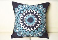 batik pillow covers - Elegant Batik Style Retro Tribal Vintage Blue pattern cushion cover pillow cases cm cm pc