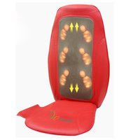 Wholesale Rocago D Back Shiatsu Massage Cushion application in Bank Car Home and Hair Salon with three colors Red Khaki and Pure White MM N