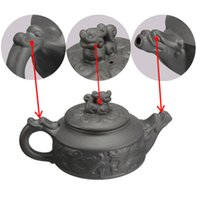 Wholesale New Arrival Chinese Dragon Kung Fu Tea Sets Yixing Purple Clay Teapot Black Teacup Set Tea Service High Quality Tea Set