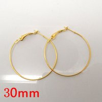 Wholesale Gold Plated Basketball Wives Earring Hoops Dangle Drop mm Dia W02577