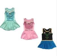 girls leotard - New Girls Kids Gymnastics Dance Dress T Ballet Tutu Training Wear Leotard Elsa Anna Princess Children Clothes