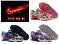 ladies shoes size - NIKE AIR MAX rose women discount nike Airmax flower running shoes cheap brand floral jogging shoes for lady and girl size