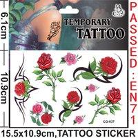 rose tattoos - Colorfull Rose Flowers Heart Butterf Frozen Anime Cartoon Tattoo Stickers Monster high Body complete tattoo kit Women Baby Children s Gift