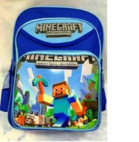 Wholesale Minecraft Backpacks kids big School Bags children Boys girls Mochila Double Shoulder Bag birthday christmas gift