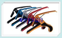 Wholesale DHL Freeshipping Quick Change Clamp Key Capo for Acoustic Electric Guitar